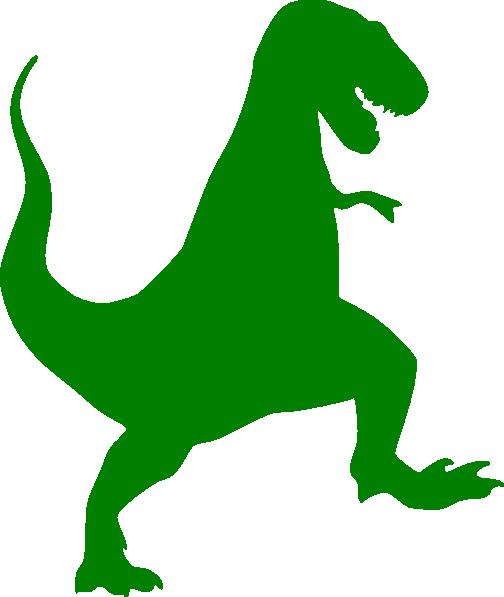 504x597 Green T Rex Silhouette Clip Art