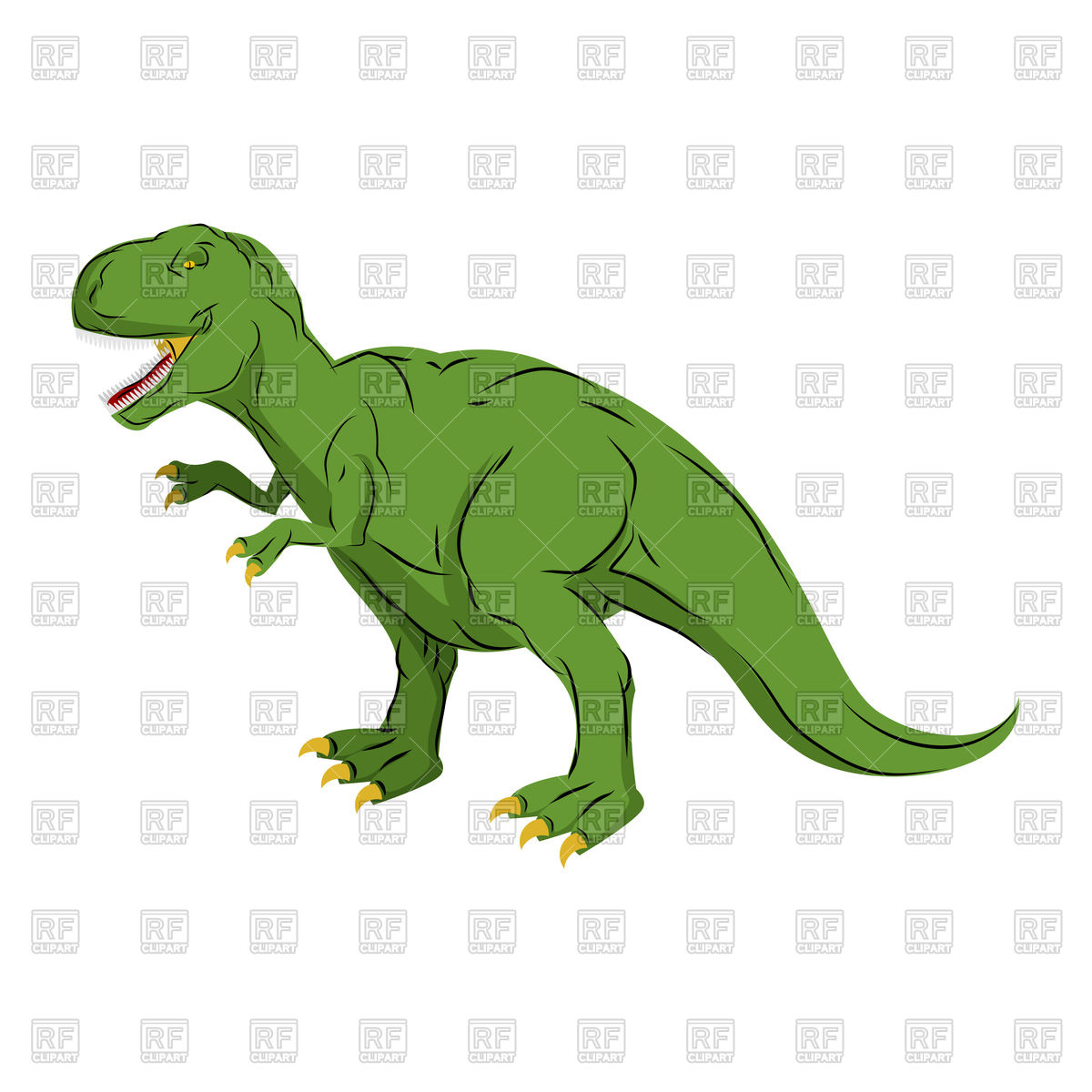 1200x1200 Green Giant Dinosaur Tyrannosaurus Rex Royalty Free Vector Clip