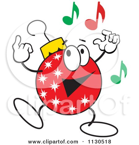 450x470 Clipart Of A Man Dancing With Tangled Christmas Lights