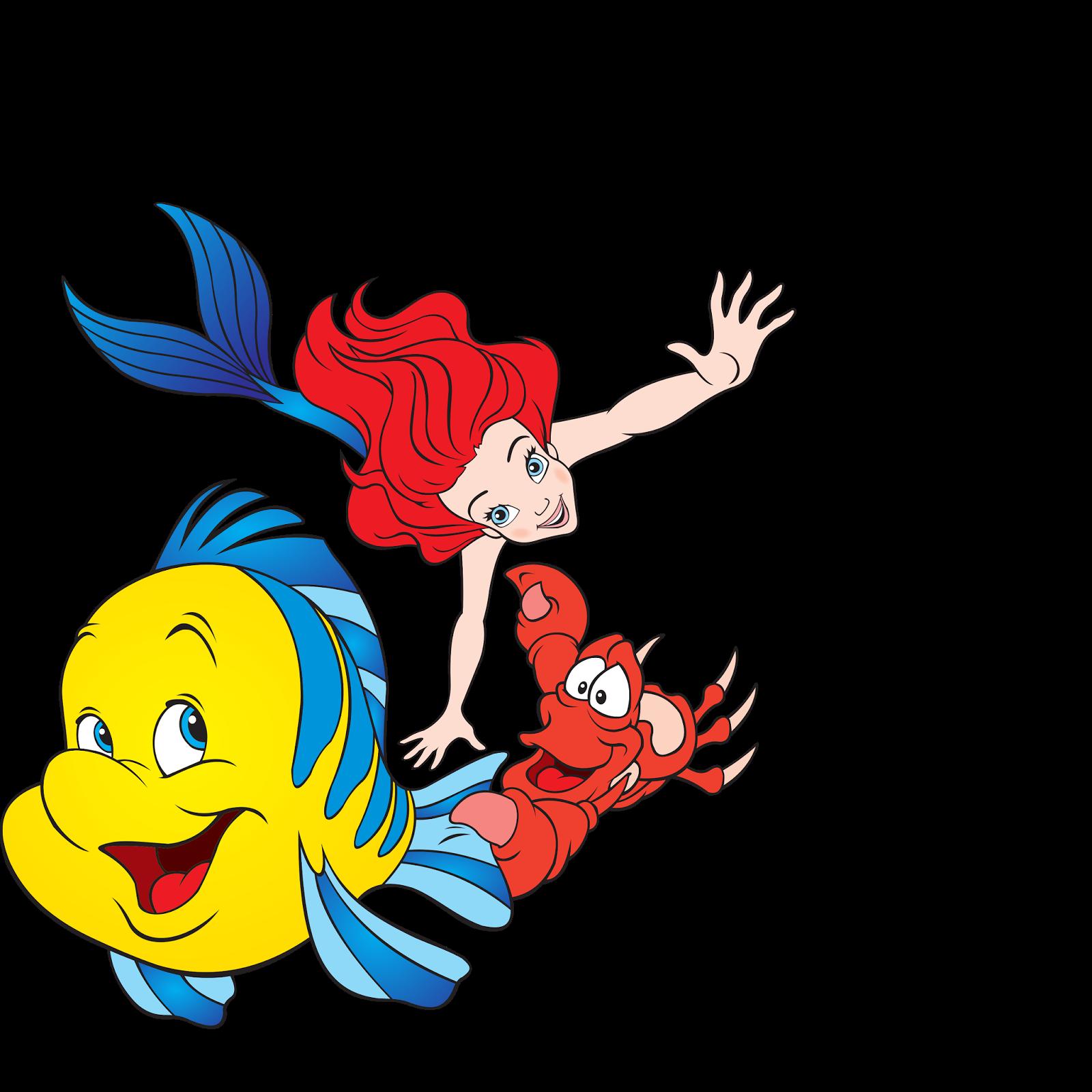 1600x1600 Little Mermaid Digital Scrapbooking Pack