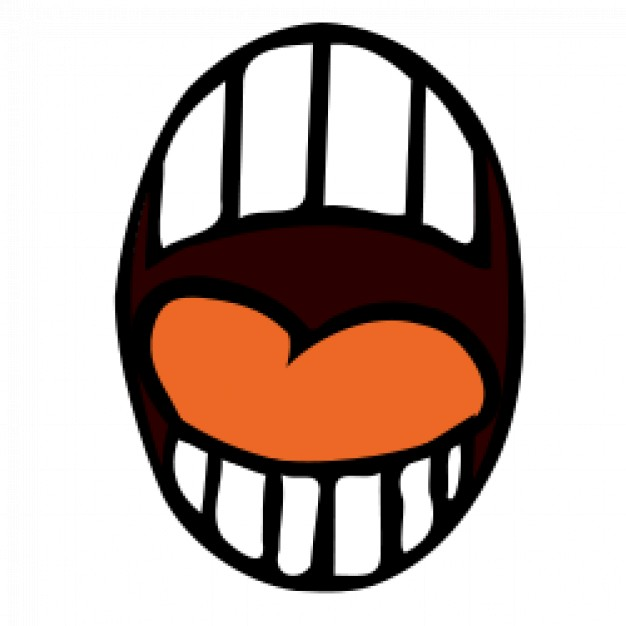 626x626 Open Mouth Cartoon Vector Free Download