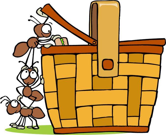 676x550 Picnic Basket With Ants Clip Art Clipart Panda