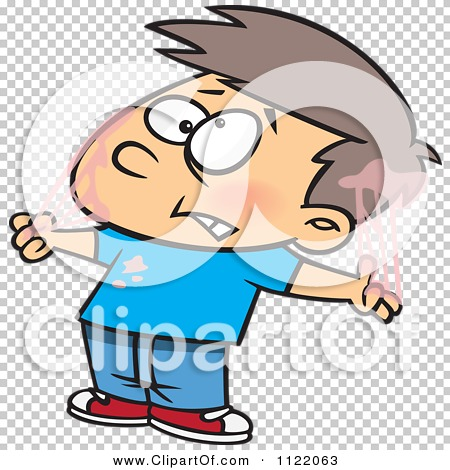 450x470 Cartoon Of A Boy Tangled In Bubble Gum