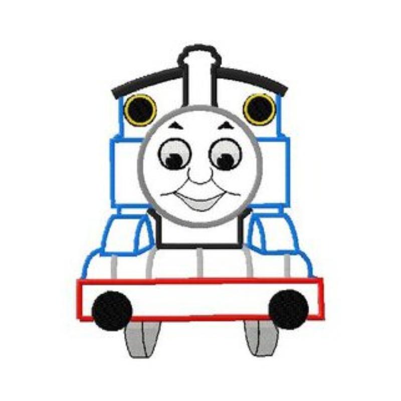 800x800 Applique Train Clipart