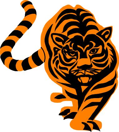 382x421 Free Bengal Tiger Clipart