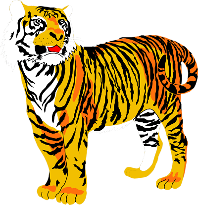 400x414 Lovely Free Tiger Clipart