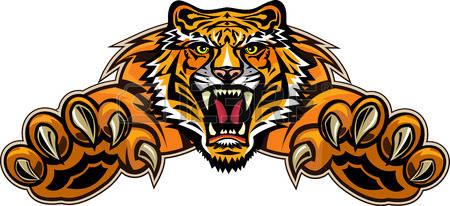 450x206 Tiger Clipart Free 49842105 Stock Vector Tiger Jump