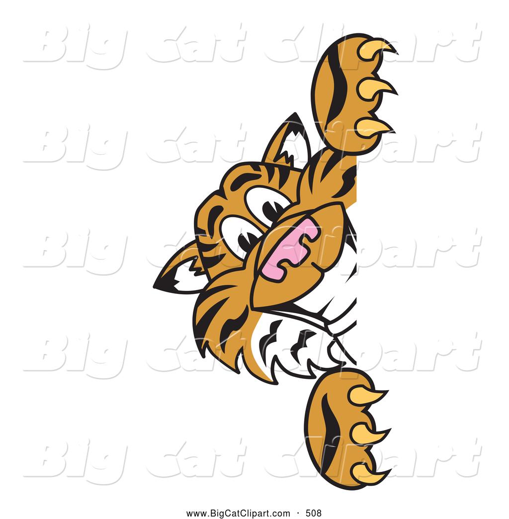 1024x1044 Big Cat Cartoon Vector Clipart Of A Cheerful Tiger Character