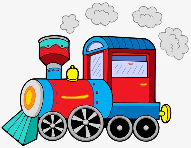 650x502 A Steam Train Running In Cartoon Illustrations, Cartoon Train