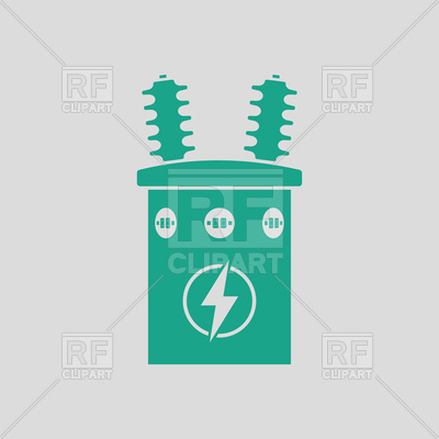 400x400 Electric Transformer Icon Royalty Free Vector Clip Art Image