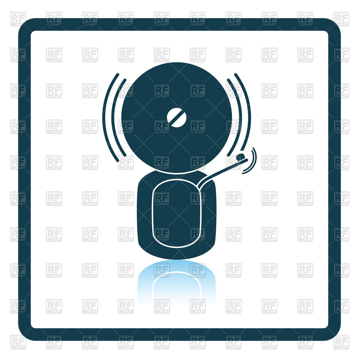 1200x1200 Fire Alarm Icon Royalty Free Vector Clip Art Image