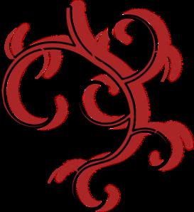 273x298 Red Tribal Vine Clip Art