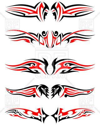 320x400 Tribal Tattoos Royalty Free Vector Clip Art Image