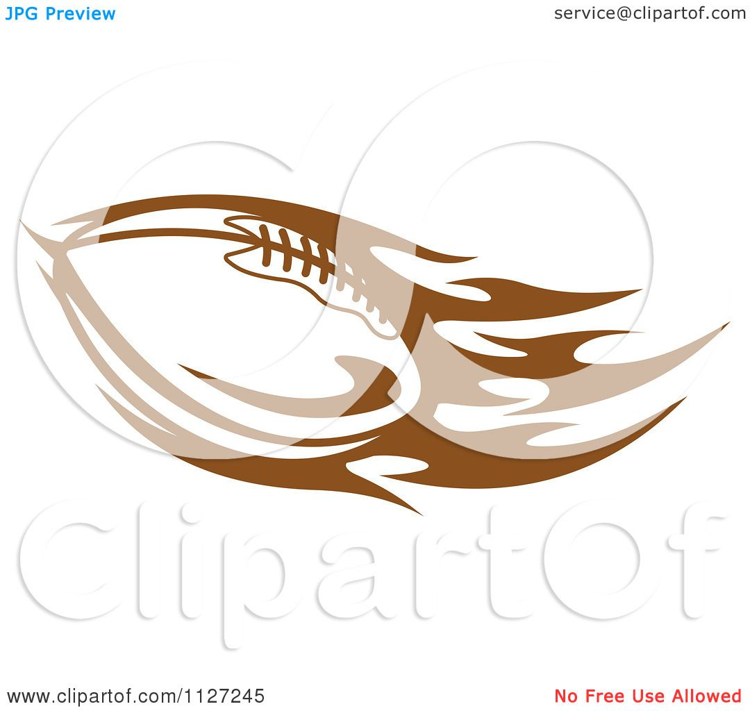 1080x1024 Clipart Of A Brown American Football With Tribal Flames 7