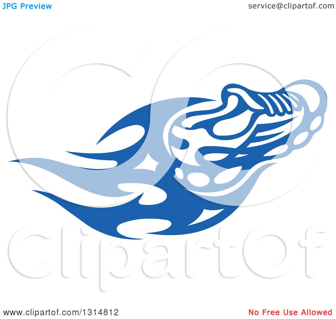 1080x1024 Clipart Of A Blue Tribal Flaming Sports Shoe 3