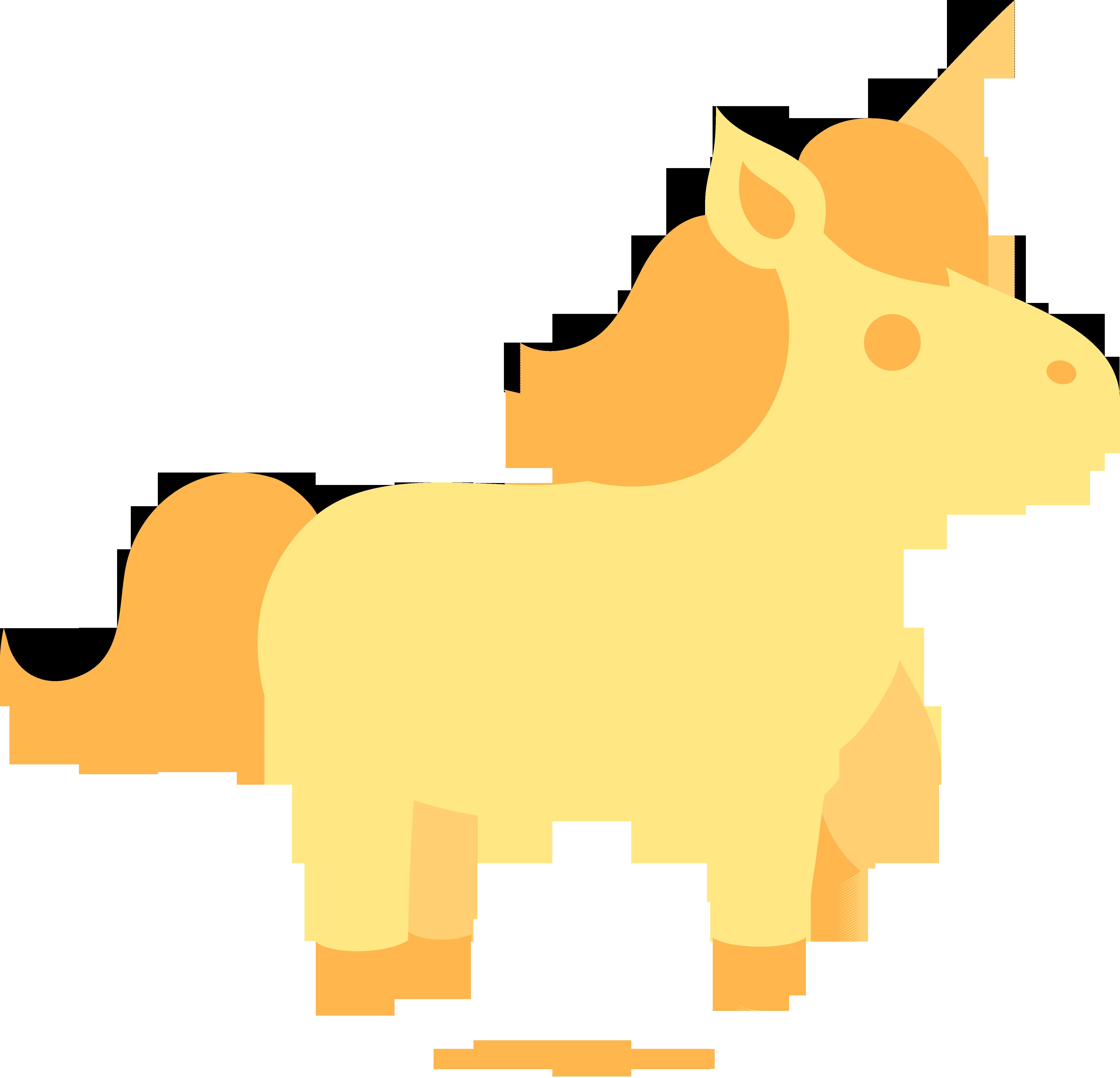 5223x5028 Golden Unicorn Clip Art