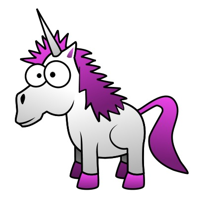 400x413 Cartoon Unicorn Clipart