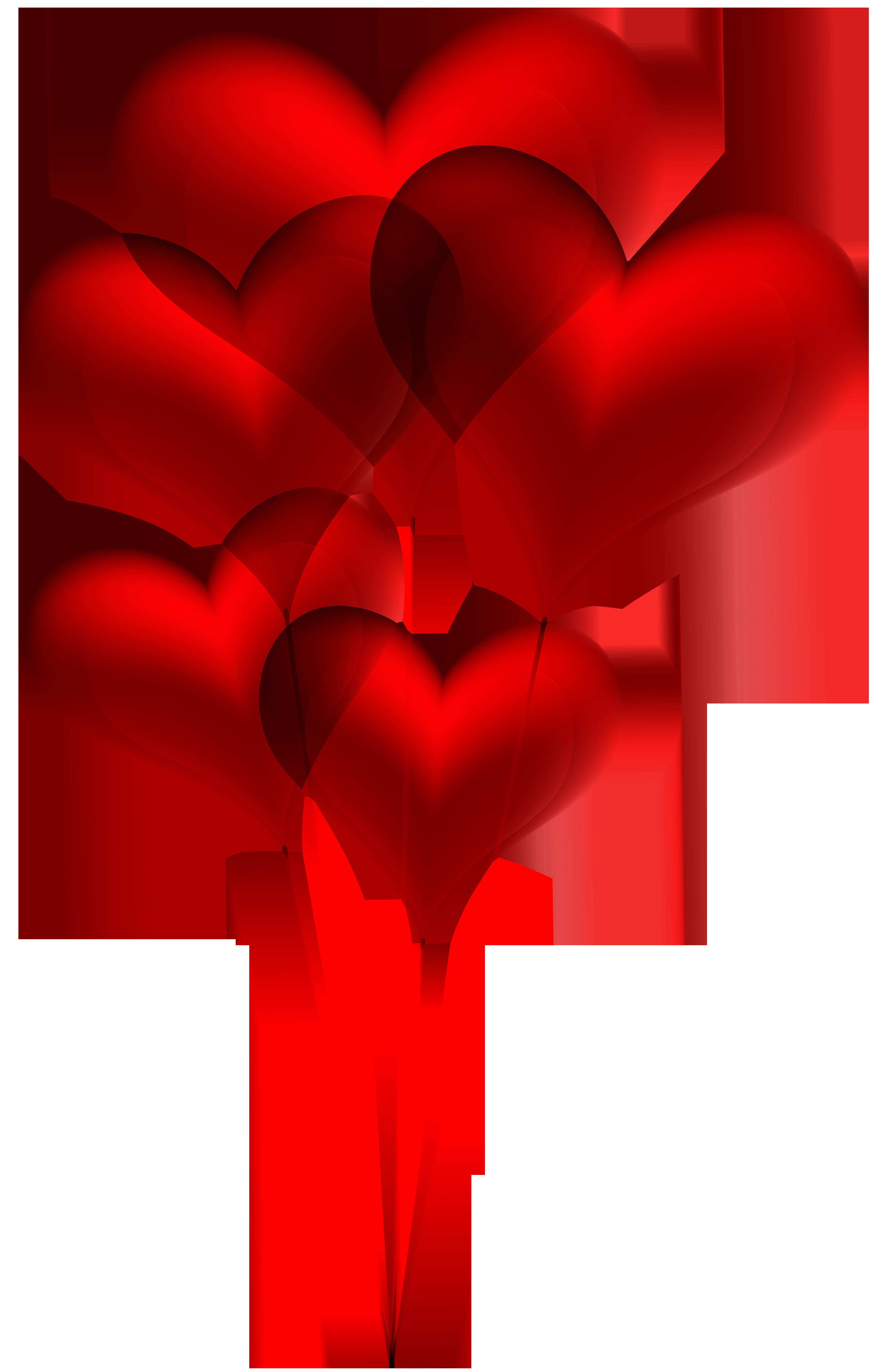 3854x5960 Red Heart Balloons Transparent Png Clip Art Imageu200b Gallery