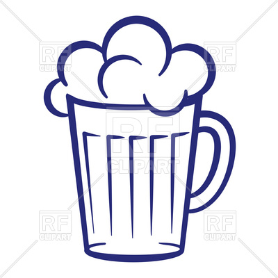 400x400 Simple Mug Of Beer With Foam Royalty Free Vector Clip Art Image