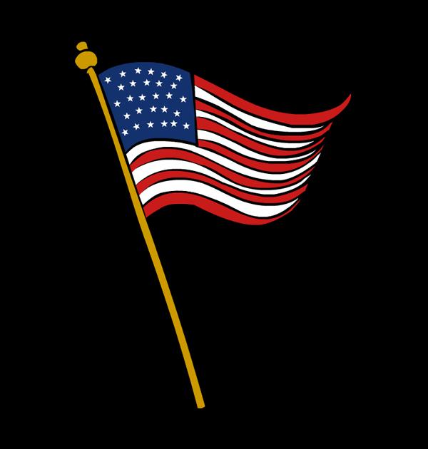 600x630 Veterans Day Flag Clip Art 3