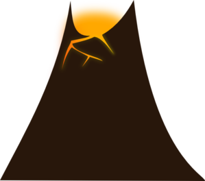 299x264 Simple Volcano Clip Art
