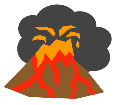 400x357 Volcano Clipart Clipartaz Free Clipart Collection