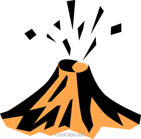 480x472 Volcano Royalty Free Vector Clip Art Illustration Natu0268