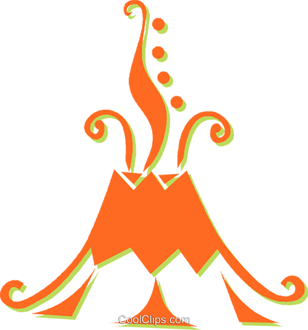 449x480 Volcanoes Royalty Free Vector Clip Art Illustration Vc031356