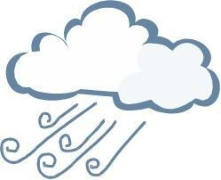 249x202 Windy Weather Clipart