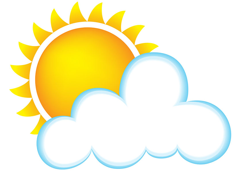 842x595 Best Sun And Clouds Clipart