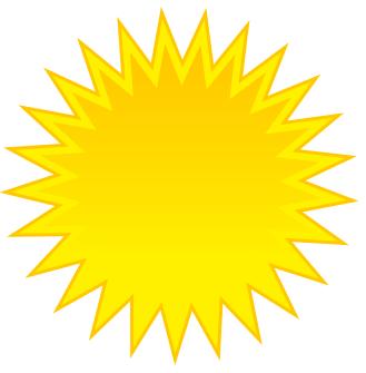 329x335 Clip Art Sun Rays Craft Projects, Symbols Clipart