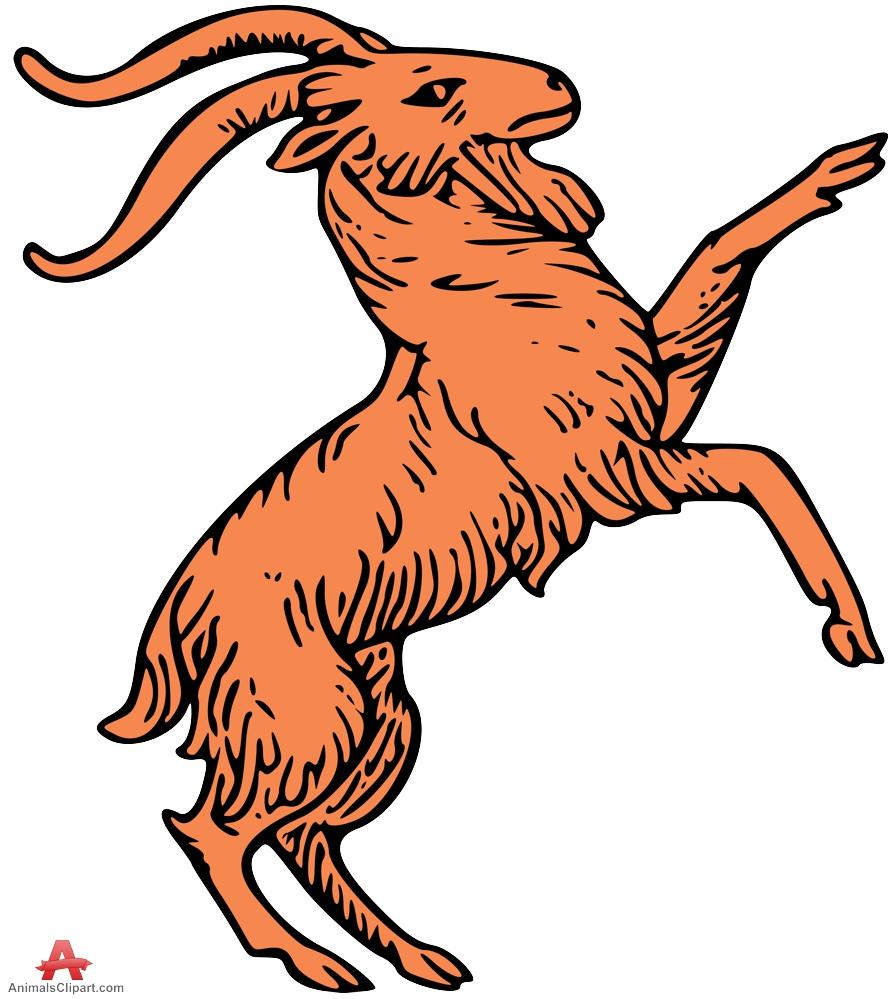 895x999 Wild Goat Clipart Symbol Free Clipart Design Download