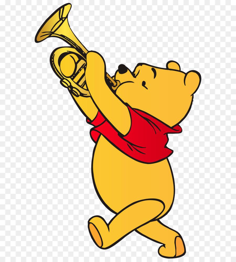 900x1000 Winnie The Pooh Winnie The Pooh Trumpet Christopher Robin Clip Art