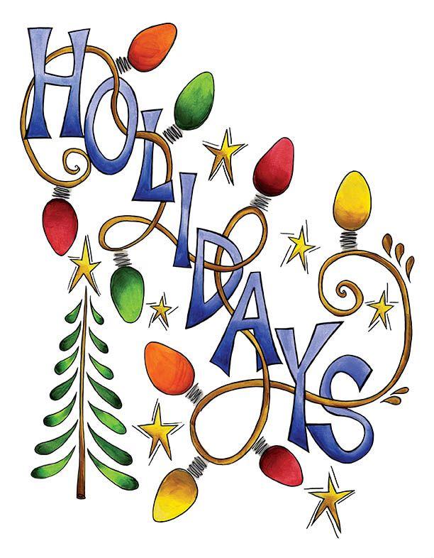 612x786 Holiday Clip Art Happy Holidays Merry Christmas Happy Holidays