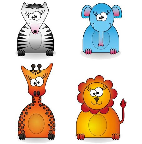 455x463 Free Zoo Animals Free Vector Pack Clipart And Vector Graphics