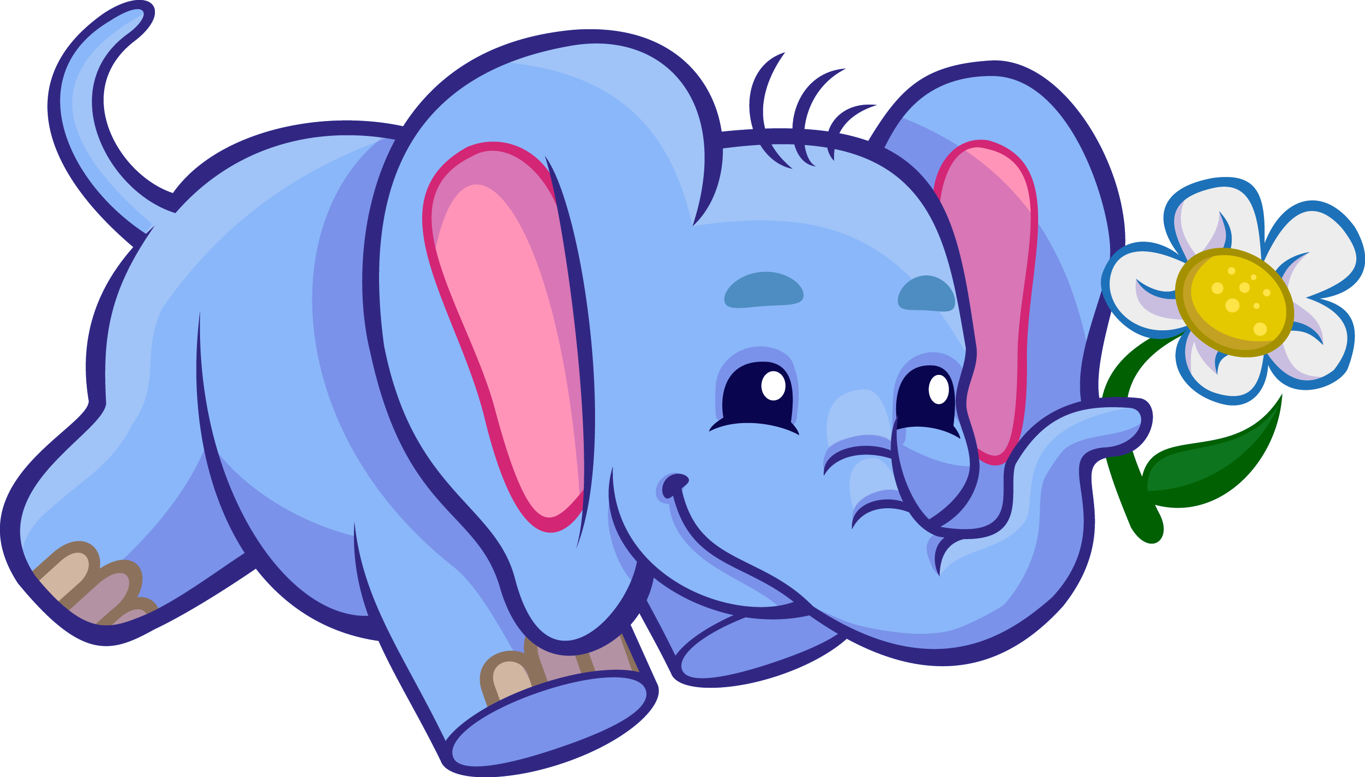 2661x1515 Baby Elephant Clip Art Zoo Jungle Animals Clipart In Free Animal
