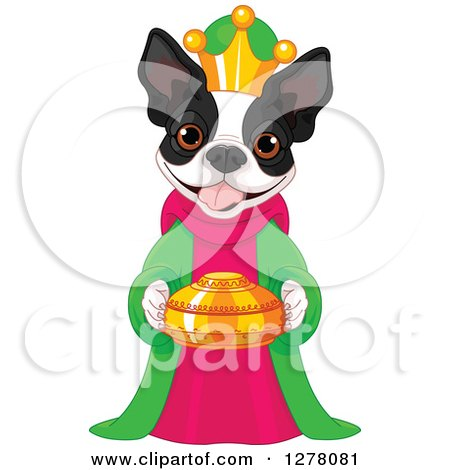 450x470 Cartoon Of A Standing Black And White French Bulldog
