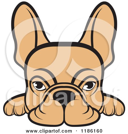 450x470 Clipart Of A French Bulldog Over A Green Grid Globe