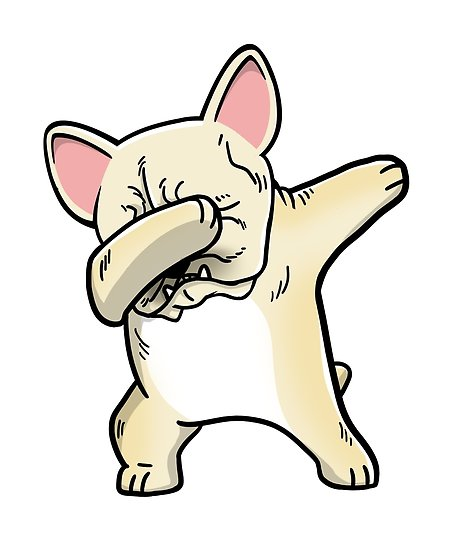 458x550 Funny Dabbing Cream French Bulldog Dog Posters By Ilovepaws