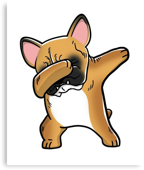 466x550 Funny Dabbing Fawn French Bulldog Dog Canvas Prints By Ilovepaws