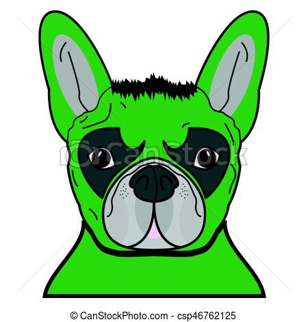 450x470 Superhero Symbol As A French Bulldog Character In Green