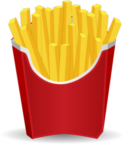 255x297 French Fries Clip Art