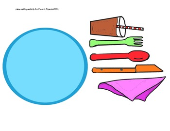 350x270 Place Setting Clip Art For Frenchspanishesl By Miss Sandy Lewis