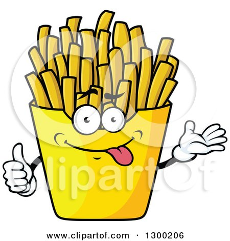 450x470 Clipart Of A Cartoon Goofy French Fries Character