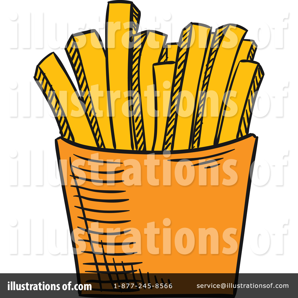 1024x1024 French Fries Clipart