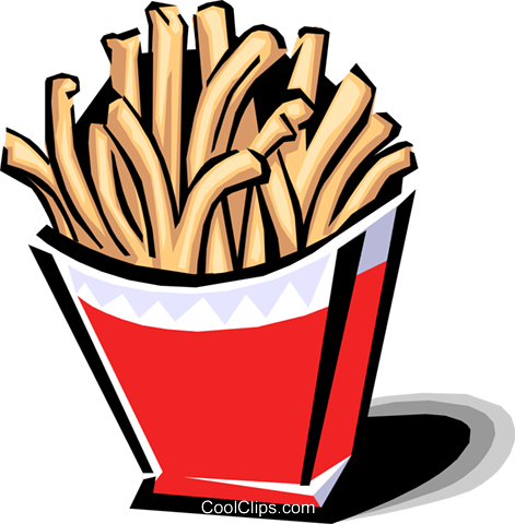 471x480 French Fries Royalty Free Vector Clip Art Illustration Food0796