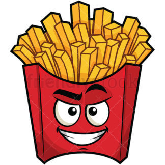 324x324 Annoyed French Fries Emoji Cartoon Vector Clipart