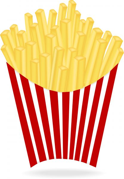 416x600 Clip Art French Fries Clipart