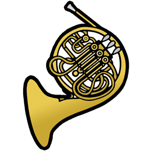 300x300 Free Clip Art French Horn