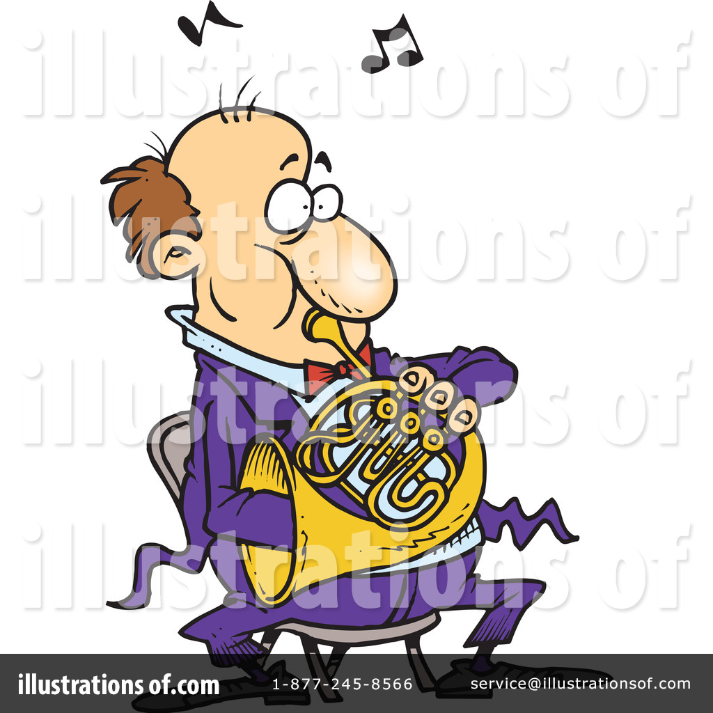 1024x1024 French Horn Clipart